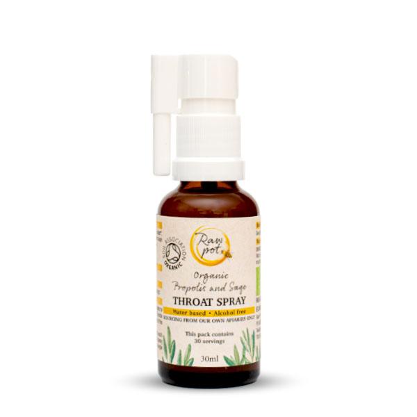 Organic Propolis and Sage Throat Spray
